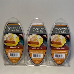 5/$20⏰ Yankee Candle Wax Melts Pumpkin Pie 3 Pack